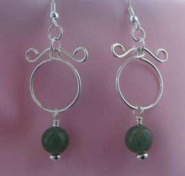 Green Aventurine Taurus Earrings - Silver-filled/Silver-plated